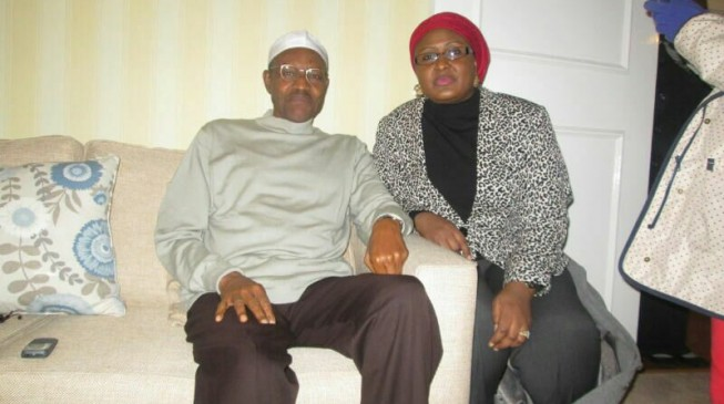 PHOTO EXTRA: Buhari with his 'dear wife' in London