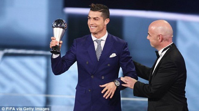 Ronaldo named FIFA Best Player of 2016