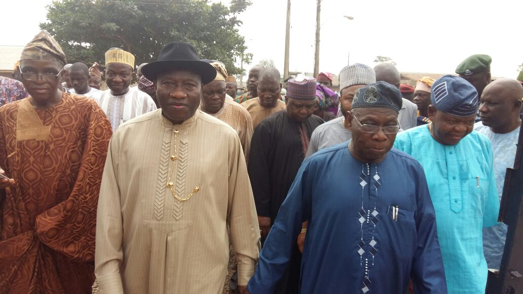 Jonathan and Obasanjo in Ogun
