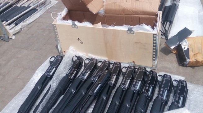 Nigeria Customs impounds Mack truck with 661 pump action rifles