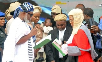 Tinubu in Ondo as Akeredolu takes oath of office