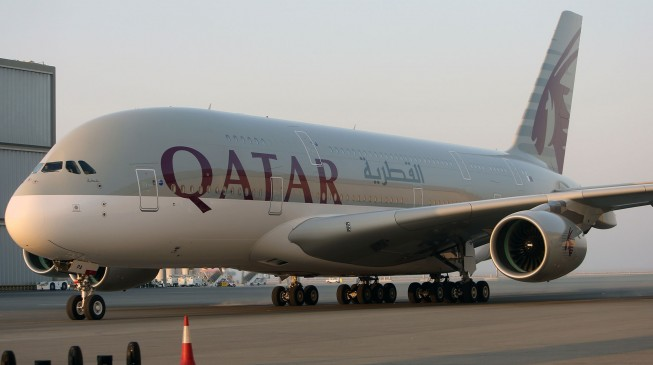 Qatar Airways plane tyre explodes at Lagos airport during takeoff