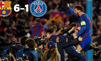 Barcelona crush PSG to achieve greatest Champions League comeback