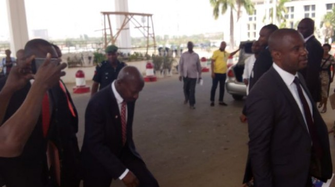 Magu arrives Senate for screening, as Customs CG is being expected