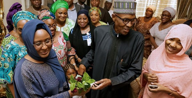 Aisha, ministers rejoice as Buhari returns after long vacation