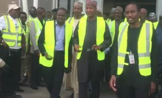 Plane lands in Abuja airport for the first time in six weeks