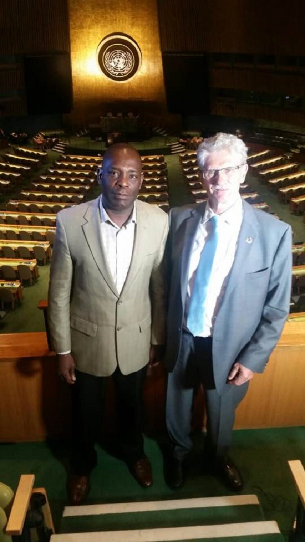 Shauibu with UN general assembly president Morgens Lykketoft