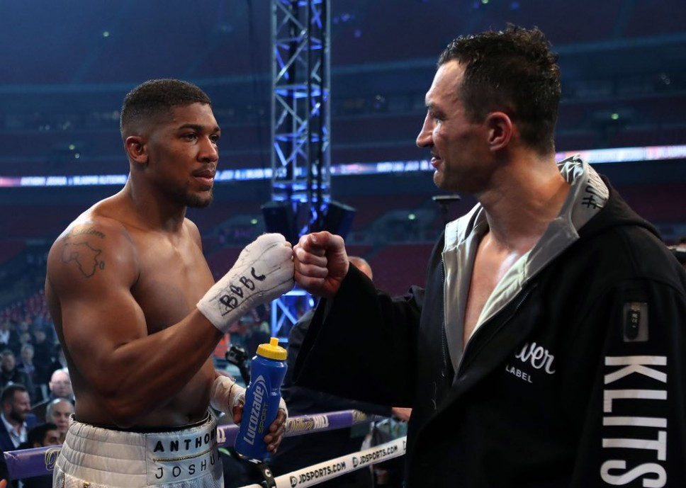 Images of the historic clash between Joshua and Klitschko