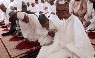 Buhari now prays from home… Twitter reacts to president's absence at Aso Rock mosque