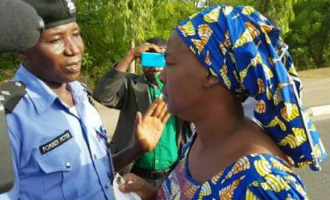 Chibok mothers clash with police at Aso Rock entrance