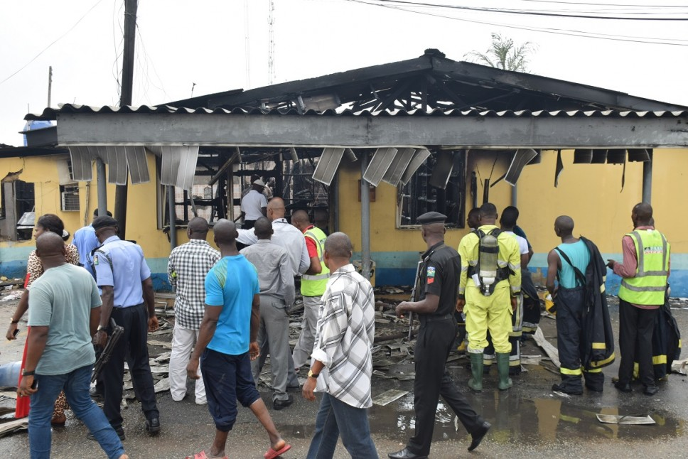 Aftermath of fire at FAAN headquarters