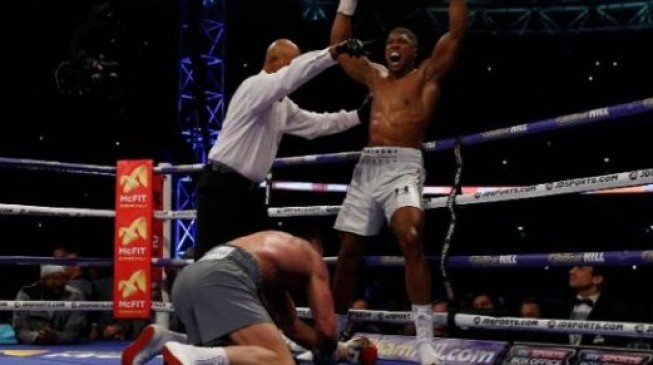 Anthony Joshua delivers impassioned speech after stunning victory