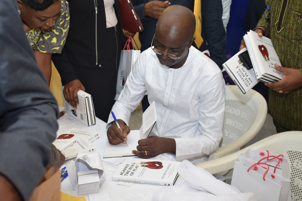 Images from launch of Adeniyi's 'Against the Run of Play'