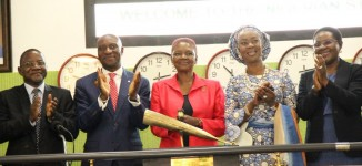 PHOTOS: Amos, first black woman to lead a UK university, visits Nigerian Stock Exchange