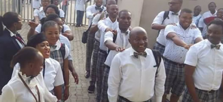PHOTOS: Diamond Bank staff dress in school uniform to mark Children's Day