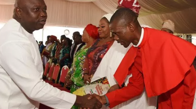 EXTRA: Lagos chaplain sacked for 'disrespecting Ambode's wife'
