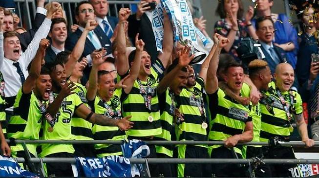 Huddersfield earn Premier League promotion after penalty shootout