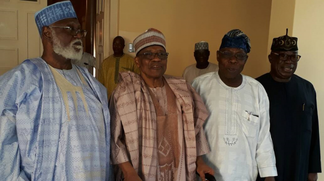 OBJ, IBB, Abdulsalami meet in Minna