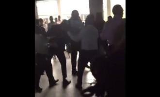 VIDEO: Security men, doctors clash in LUTH