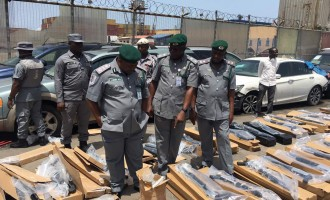 Customs: Seized cargo contained 440 rifles imported from Turkey