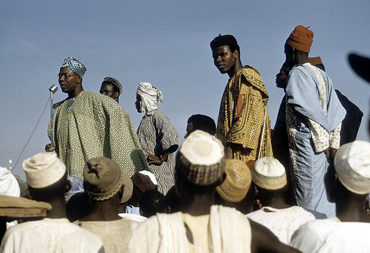 Obafemi Awolowo in Sokoto for campaign1