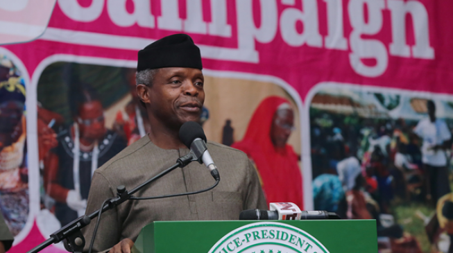 We must stop hate speeches - Osinbajo