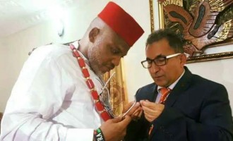 Kanu receives Turkish businessman, says 'foreigners visiting us despite intimidation'