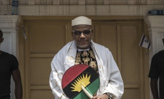 EXCLUSIVE: Nnamdi Kanu, wife spotted in Ghana