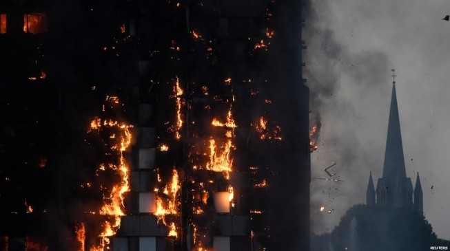 London fire: Baby thrown from 10th floor saved 'miraculously'