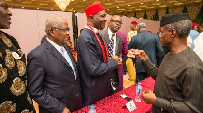 Osinbajo meets with Southeast leaders, warns against hate speeches