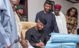 'Time to give this recession a punch' — Twitter reactions to the signing of 2017 budget