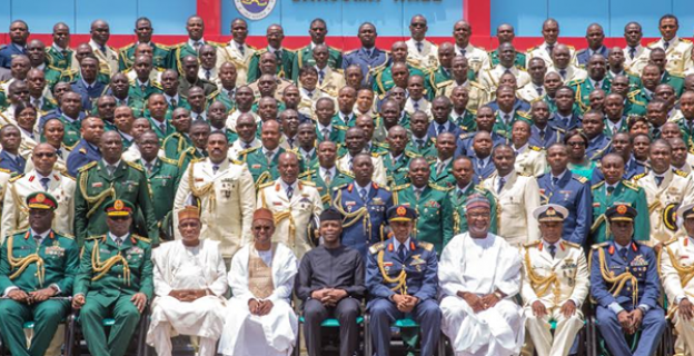 Osinbajo at the graduation of Armed Forces Command and Staff College
