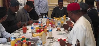 Amaechi, Oyegun, el-Rufai meet Buhari in London