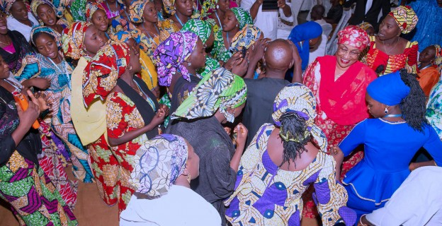 Minister dances with freed Chibok girls