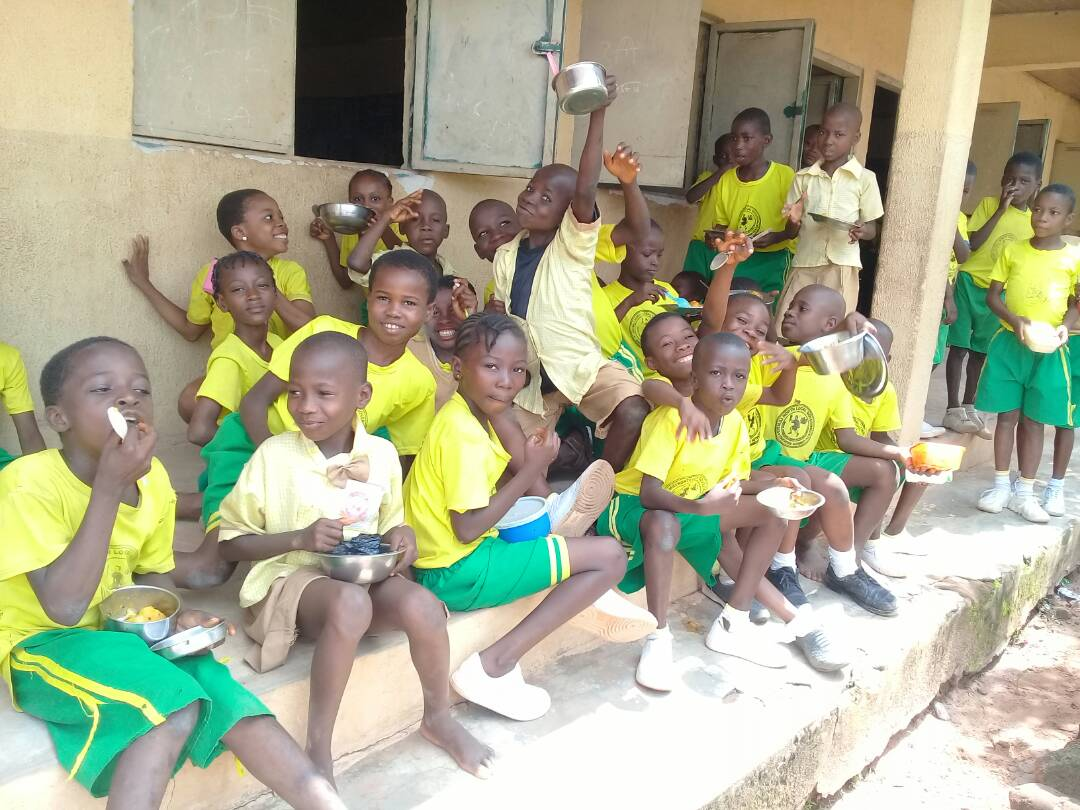 For the pupils, it is a thing of joy and happiness... days of missing school are over!