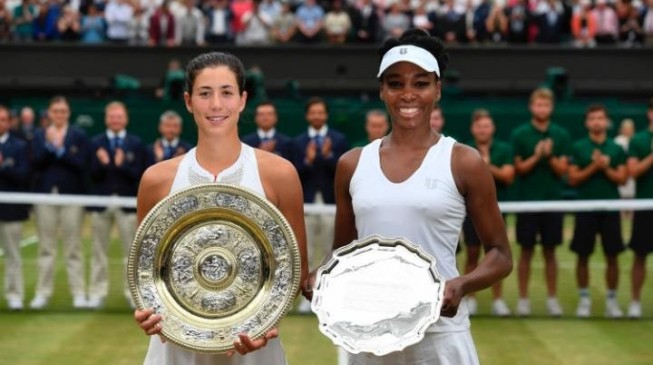 Muguruza shocks Venus Williams to win first Wimbledon title