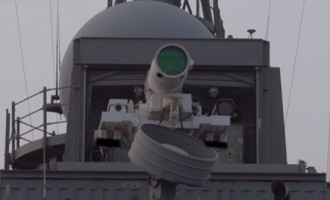 US navy tests world's first laser weapon