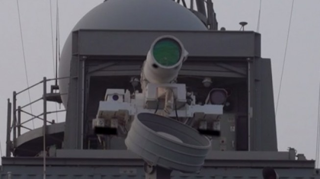 Navy unveils drone-killing laser