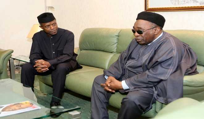 Maitama Sule with Osinbajo