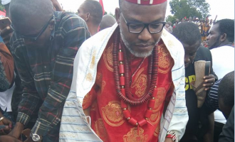 Nnamdi Kanu blames Anambra attack on enemies of Igbo