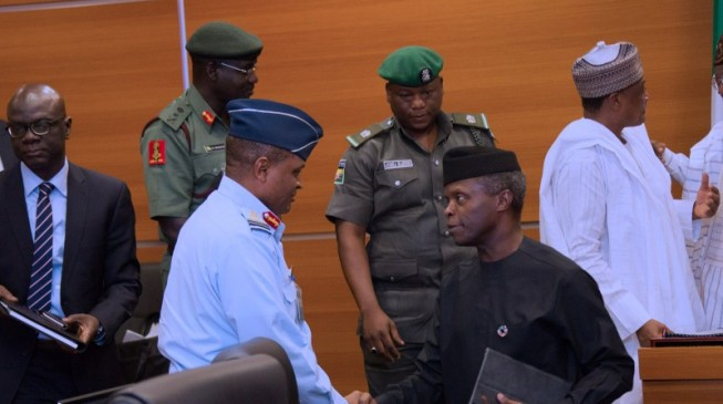 Osinbajo, Shettima, security chiefs hold a meeting over Bama reconstruction