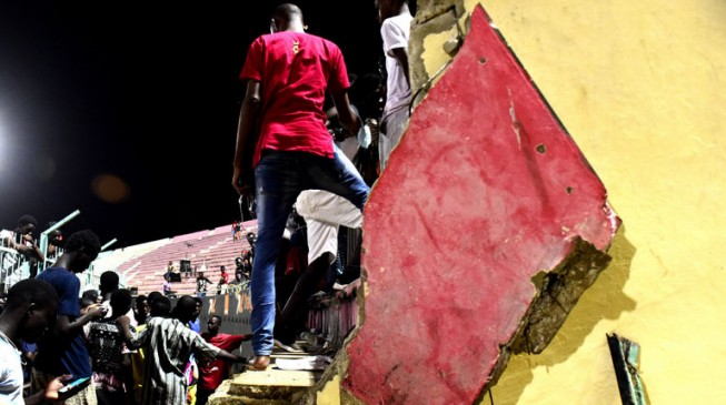 Collapsed wall kills eight at stadium in Senegal