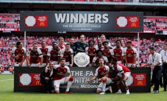 Moses scores but Arsenal edge Chelsea to lift Community Shield