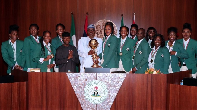 Buhari to reward victorious D' Tigresses with N1m each