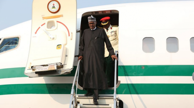 Buhari returns to Abuja after Sallah holidays in Daura