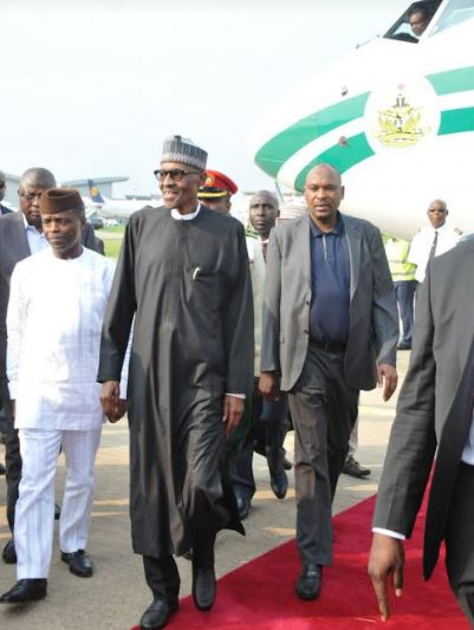 Buhari returns to Nigeria after medical vacation in London