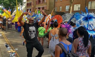 PHOTOS: Dino Melaye rocks Nottinghill Carnival