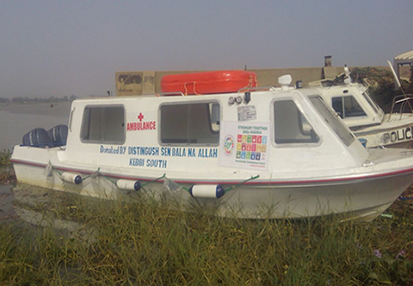 Hospital boat for Yauri