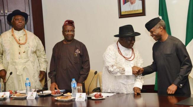 Niger Delta elders meet Osinbajo — 72 hours after issuing ultimatum
