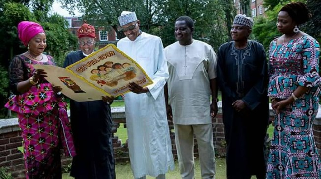 President Buhari Hosts His Media Team in London, To Come Back Soon